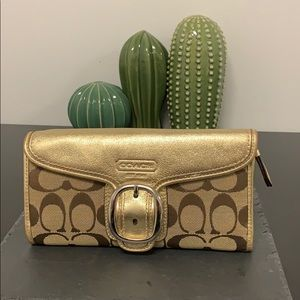 Used Coach Gold Wallet